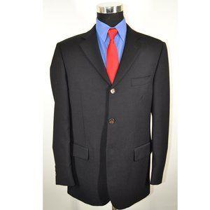 Pronto Uomo 40R Sport Coat Blazer Suit Jacket Blac